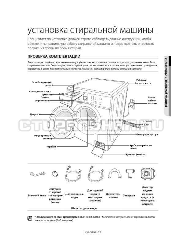 Инструкция Samsung WF60F1R1W2W страница №13