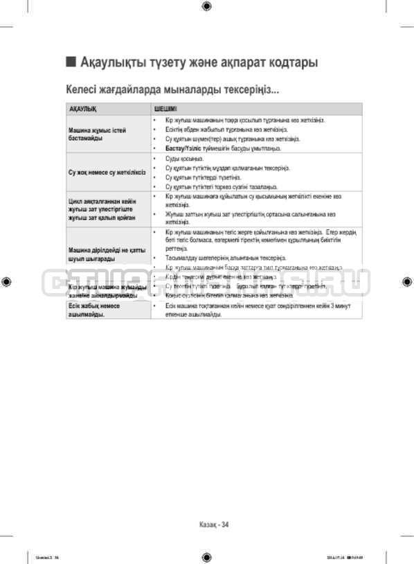Инструкция Samsung WF60F4ECW2W страница №122