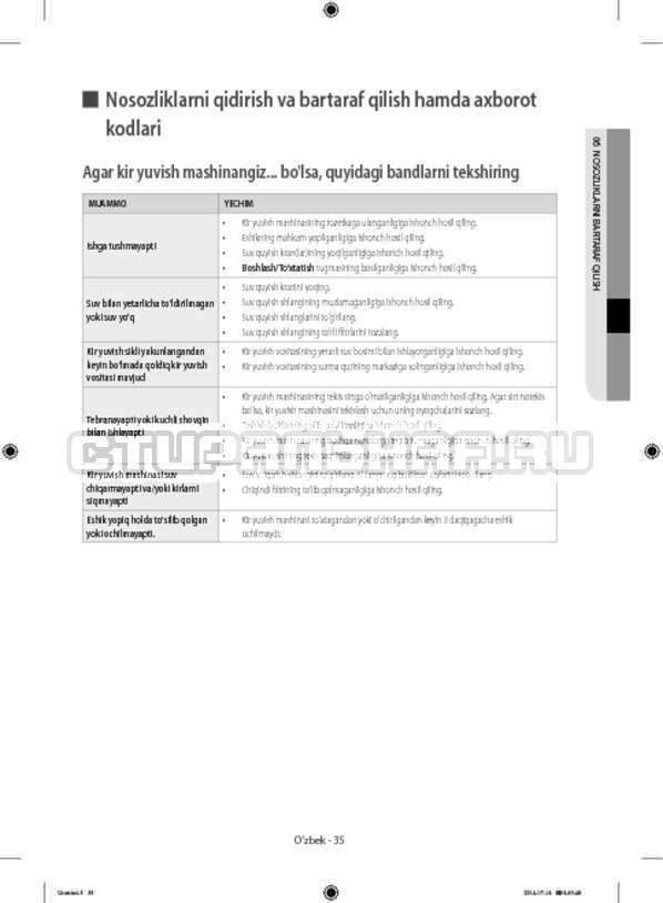 Инструкция Samsung WF60F4ECW2W страница №163