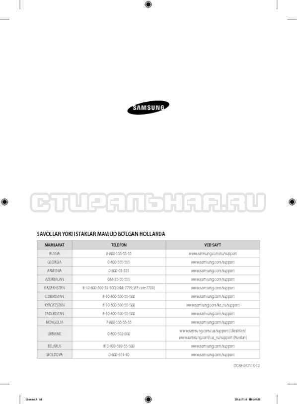 Инструкция Samsung WF60F4ECW2W страница №172