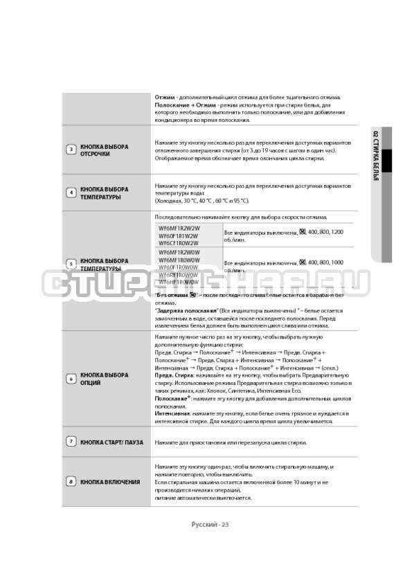 Инструкция Samsung WF6MF1R2W2W страница №23