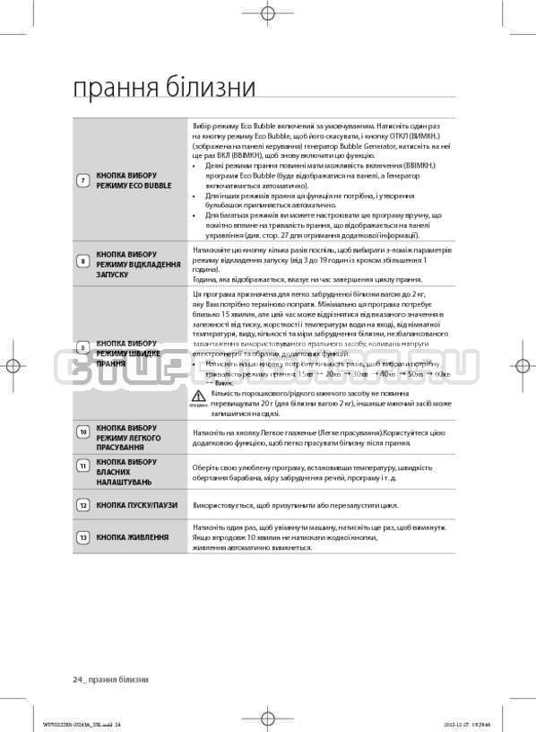 Инструкция Samsung WF700W0BDWQ страница №69