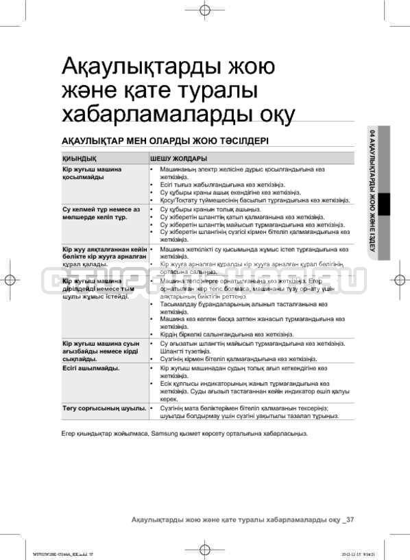 Инструкция Samsung WF702W2BBWQ страница №125