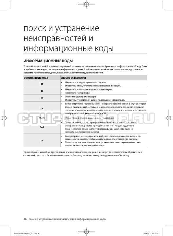 Инструкция Samsung WF702W2BBWQ страница №38