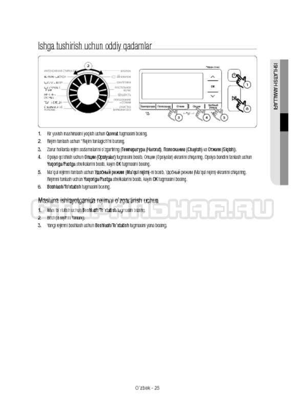Инструкция Samsung WW12H8400EW/LP страница №165