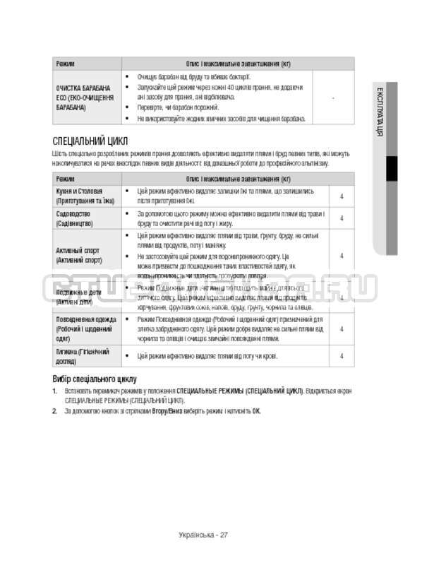 Инструкция Samsung WW12H8400EX/LP страница №75