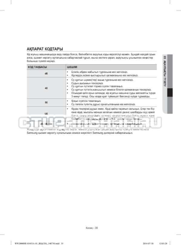 Инструкция Samsung WW60H2200EWDLP страница №115