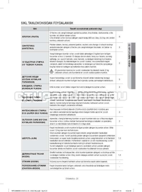 Инструкция Samsung WW60H2200EWDLP страница №143
