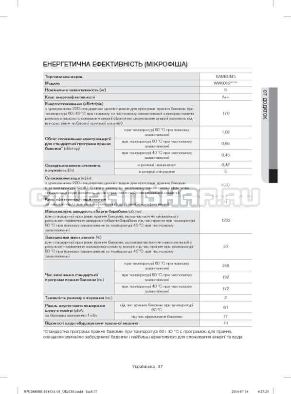 Инструкция Samsung WW60H2200EWDLP страница №77