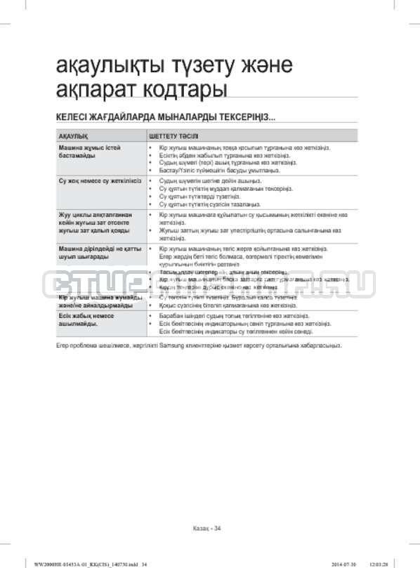 Инструкция Samsung WW60H2210EWDLP страница №114