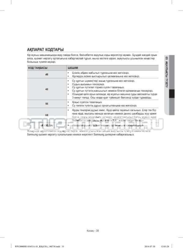 Инструкция Samsung WW60H2210EWDLP страница №115