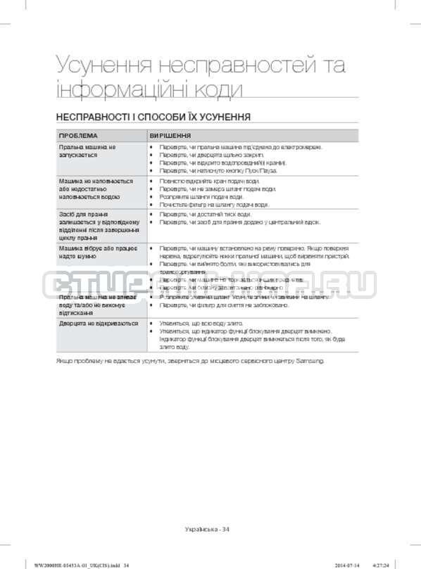 Инструкция Samsung WW60H2210EWDLP страница №74