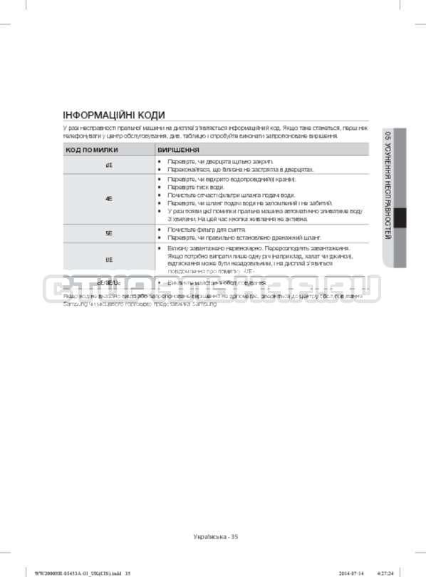 Инструкция Samsung WW60H2220EWDLP страница №75