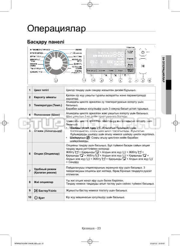 Инструкция Samsung WW80H7410EW страница №111