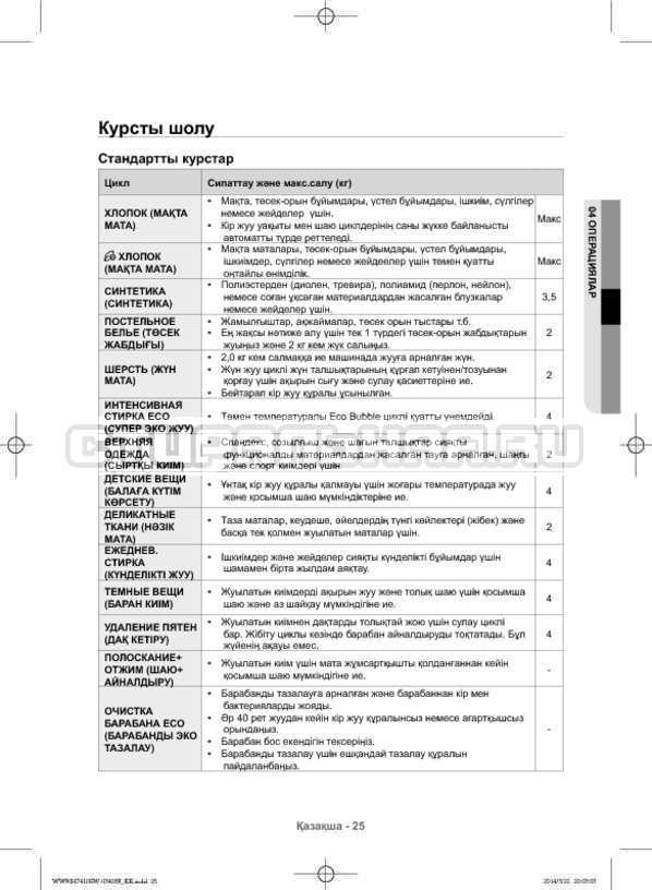 Инструкция Samsung WW80H7410EW страница №113