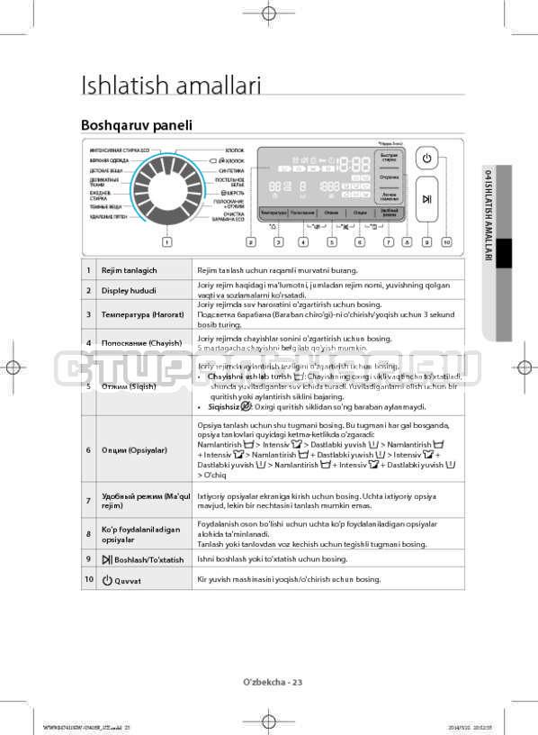 Инструкция Samsung WW80H7410EW страница №155