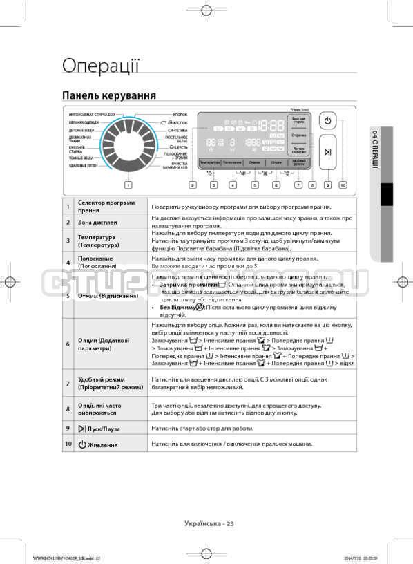 Инструкция Samsung WW80H7410EW страница №67